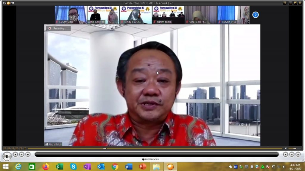 Pesan Abdul Mu'ti bagi Lulusan SDMM disampaikan Sekretaris Umum Pimpinan Pusat Muhammadiyah dalam Purnawidya XI Virtual, Sabtu (20/6/20).