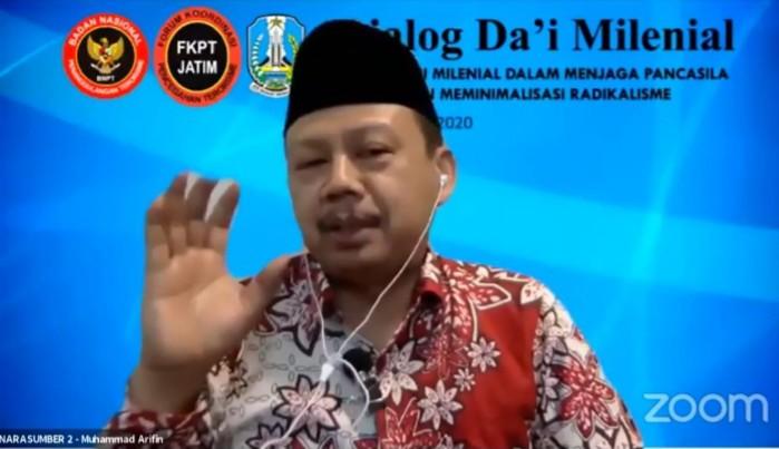 Kalau salah niat bukan mati syahid tetapi mati sangit disampaikan oleh Kabid Agama, Sosial, dan Budaya FKPT Jatim Muhammad Arifin MAg.
