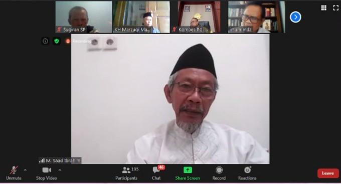 Jika saling jegal Indonesia tak akan jaya disampaikan oleh Ketua Pimpinan Wilayah Muhammadiyah (PWM) Jatim Dr M Saad Ibrahim MA.