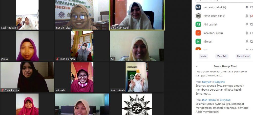 Musyda Virtual Nasyiatul Aisyiyah Kota Kediri digelar Sabtu (13/6/20). Musyawarah Daerah (Musyda) ke-XIII tersebut sengaja diadakan secara virtual karena pandemi Covid-19.