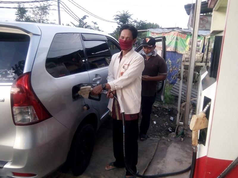 PCPM Wringinanom meresmikan Pom (Pompa) bensin MiniMu 06 yang bertempat di Desa Sumengko, Sabtu (31/5/20).