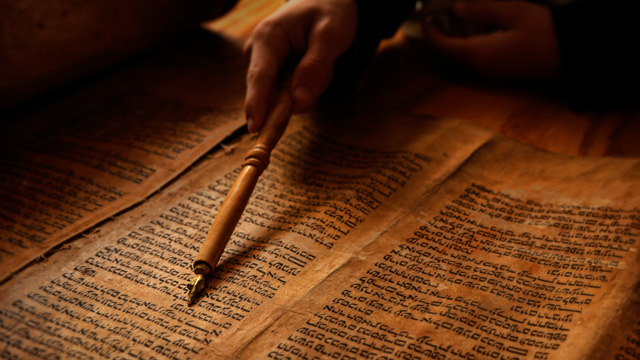 Ilustrasi Rabi Yahudi menguji Rasulullah mengadili pezina.