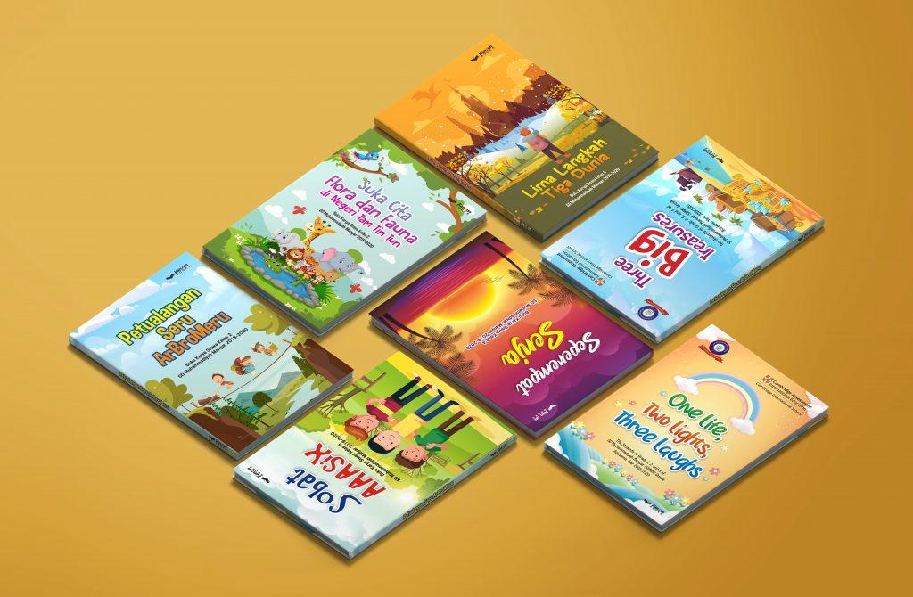 SDMM launching buku karya siswa dalam acara Purnawidya XI Virtual, Sabtu (20/6/20). Dari tujuh judul buku karya siswa tersebut, dua di antaranya berbahasa Inggris.
