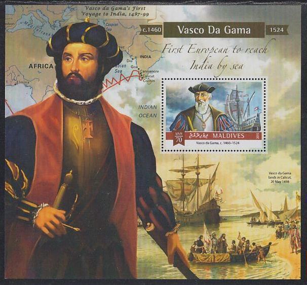 Vasco da Gama melayari India dipandu pelaut Arab. (foto: notesindianhistory.com)
