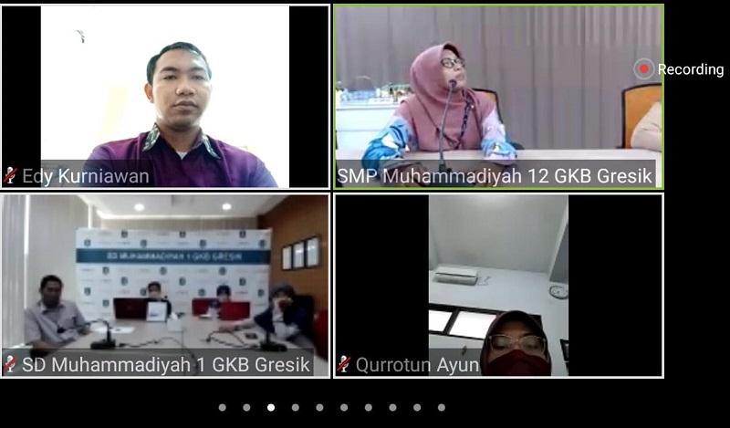 Sekolah Muhammadiyah GKB menyiapkan kelas virtual disampaikan Anis Shofatun SSi MSi dalam Webinar Pengembangan Layanan Pendidikan di Masa Pandemi Covid-19, Sabtu (27/6/20).