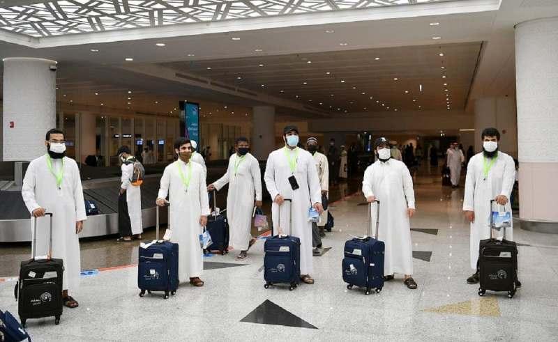 Jamaah haji berdatangan di Bandara Jeddah Arab Saudi. Suasana tak ramai. (al arabiya)