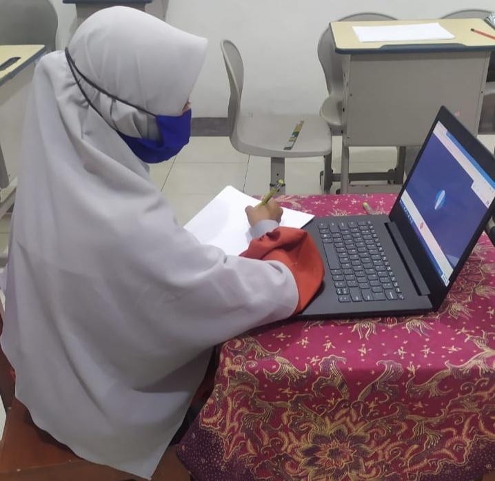 SD Muhammadiyah 4 (SD Mupat) Kota Malang adakan Munaqasyah Virtual melalui Google Meet (Ahmad Afwan Y/PWMU.CO)