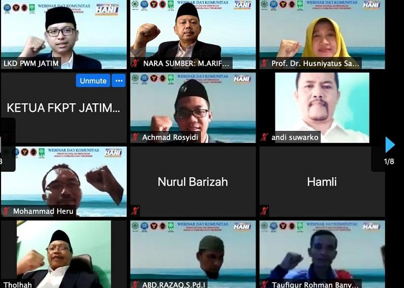 Dai komunitas memiliki tantangan mahaberat disampaikan Ketua LDK Jawa Timur Muhammad Arifin MAg dalam Webinar bertajuk Dai Komunitas se-Jawa dan Bali, Selasa (30/6/20).