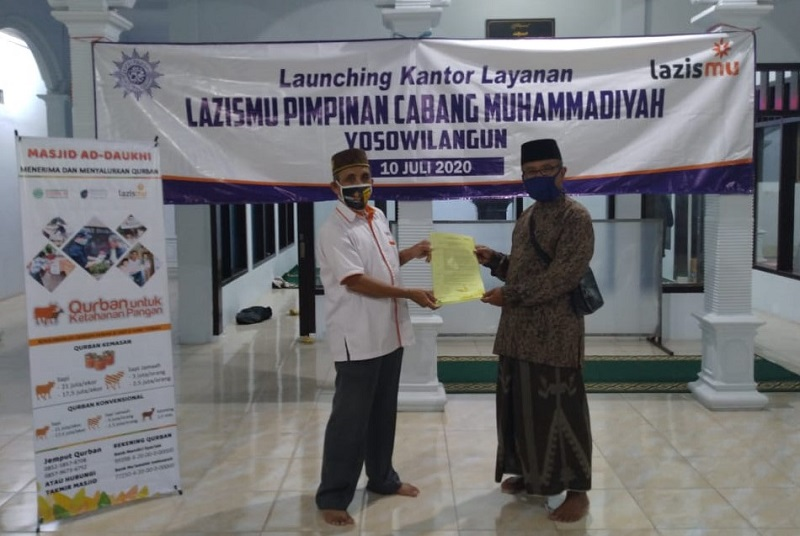 Lazismu Lumajang membuka Kantor Layanan (KL) baru di  Cabang Yosowilangun, Jumat (10/7/20).