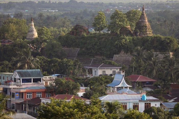 Kota Rakhine Myanmar tempat warga Rohingya bermukim. (abcnews)