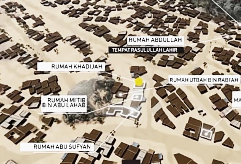 Ilustrasi rencana membunuh Nabi dengan mengepung rumahnya.