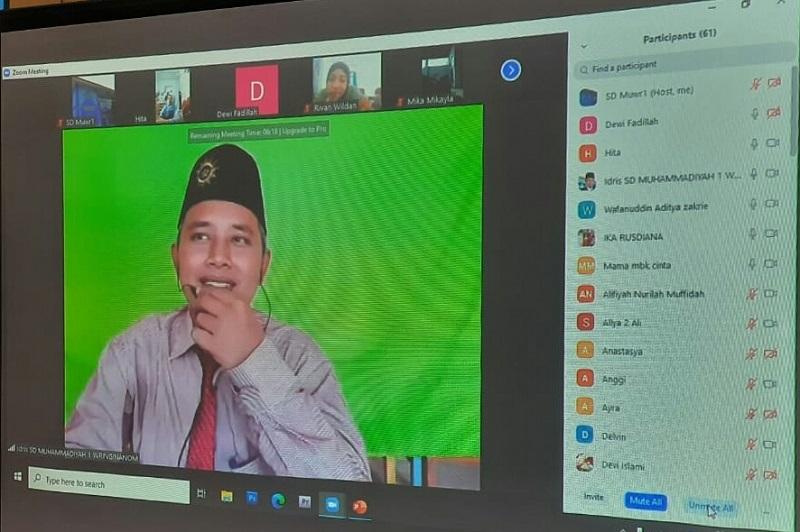 Cara SD Muwri mendekatkan orangtua melalui sosialisasi program sekolah secara online, Jumat (24/7/20).