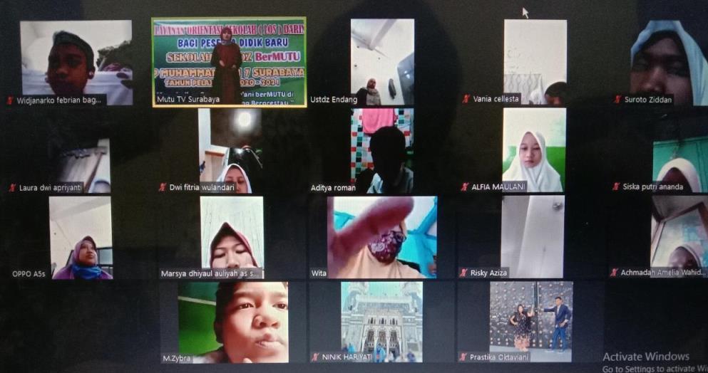 LOS SMP Mutu launching branding baru. Peluncuran tersebut dilakukan secara daring melalui platform Zoom Conference, Senin (13/7/20).