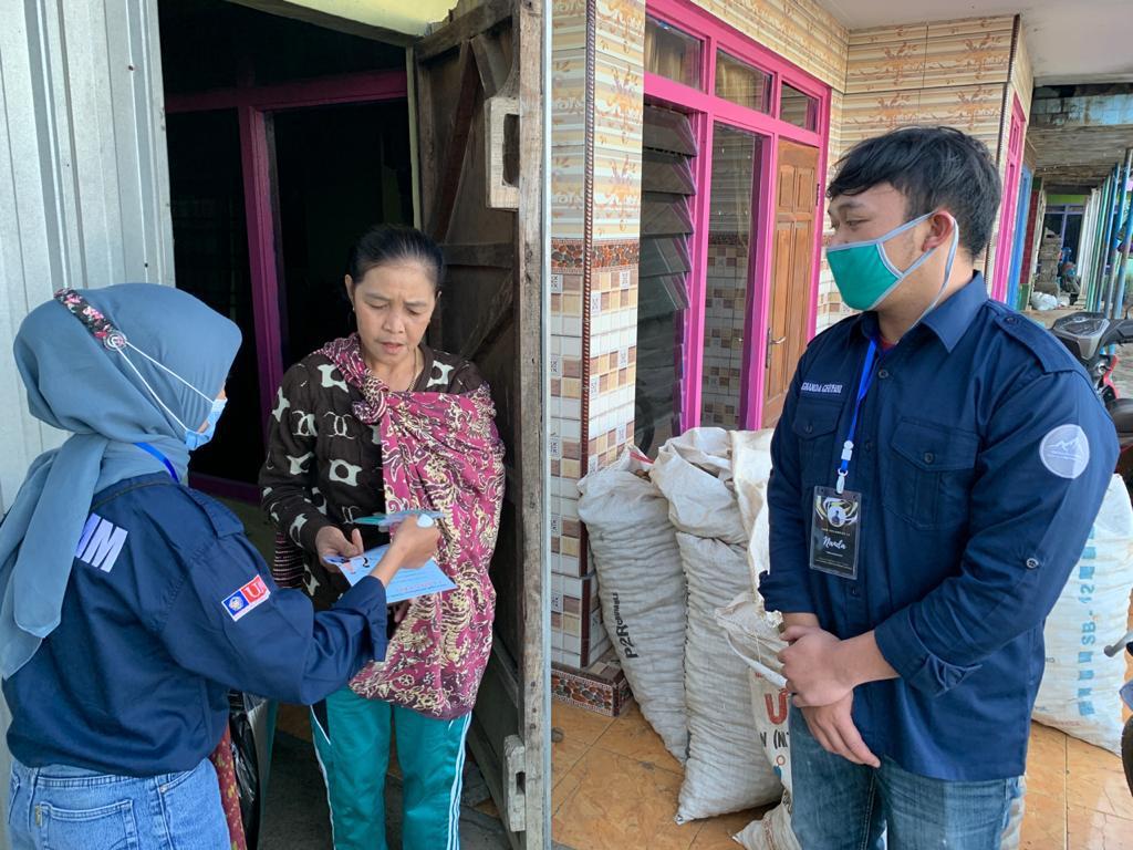 Mahasiswa UMM sosialisasi 7 langkah hidup sehat untuk melawan pandemi Covid-19 (Khusnul Nur Fadila/PWMU.CO)