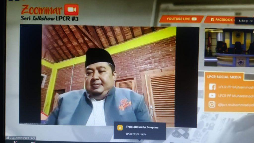 Drs H Jamaludin Ahmad Psi Wakil Ketua LPCR dorong Cabang dan Ranting Mandiri secara ekonomi (Slamet Hariadi/PWMU.CO)