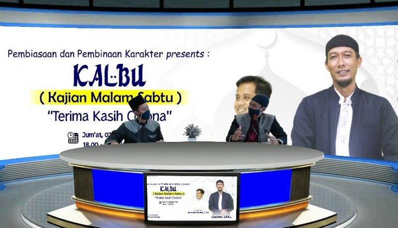 Terima Kasih Corona di Kalbu Smamio menjadi tema menarik bagi siswa dalam kajian Islam secara virtual, Jumat (14/8/20) melalui akun Youtube Smamio GKB Channel.