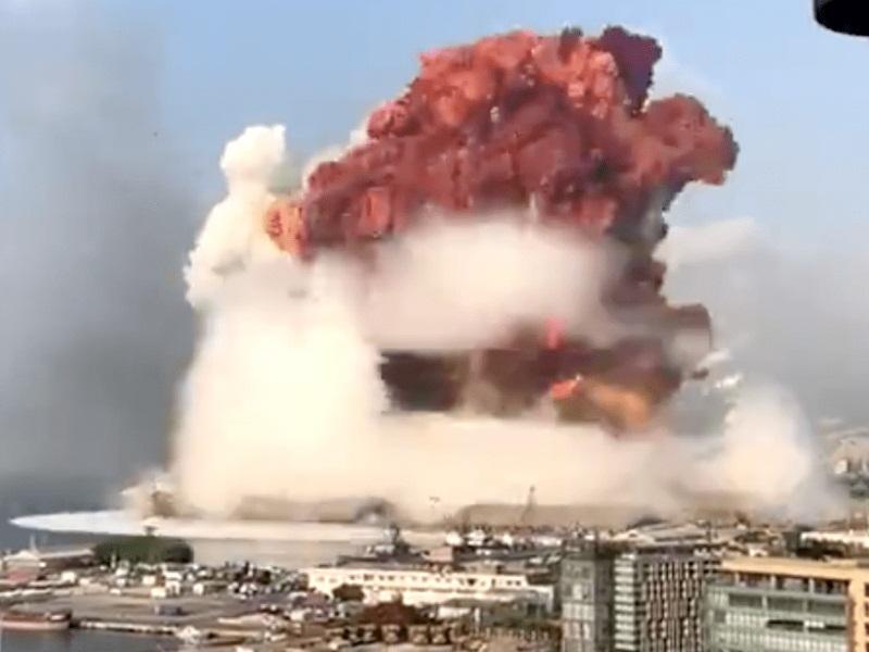 Ledakan besar di Beirut akibat amonium sulfat.