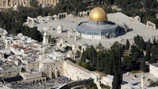 Dome of Rock di Yerusalem.