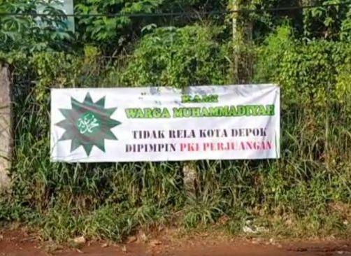 Muhammadiyah Depok dicatut di spanduk ini.