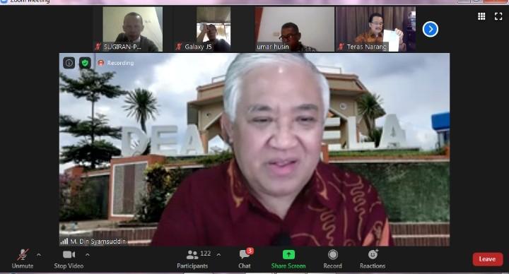 Pilkada ditunda jika terjadi bencana nasional. Ketua Umum DN-PIM Prof Din Syamsuddin mengungkapkan hal itu saat Sarasehan Kebangsaan ke-33.