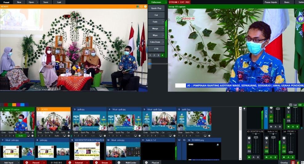 Bijak hadapi pandemi menjadi tema webinar yang diselenggarakan SD Muhammadiyah 3 Ikrom Wage, Sidoarjo, Sabtu (26/9/20).