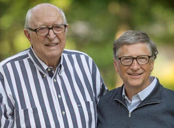 Bill Gates dan ayahnya.