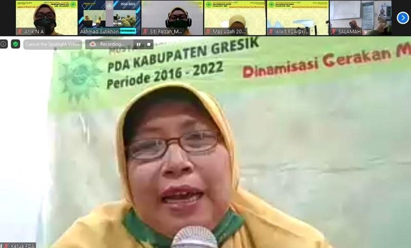 Aisyiyah Gresik Gelar Musypimda II dilaksanakan secara daring dengan tema Dinamisasi Gerakan Menebar Islam Berkemajuan berlangsung melalui Zoom Meeting, Sabtu-Ahad (17-18/10/20).