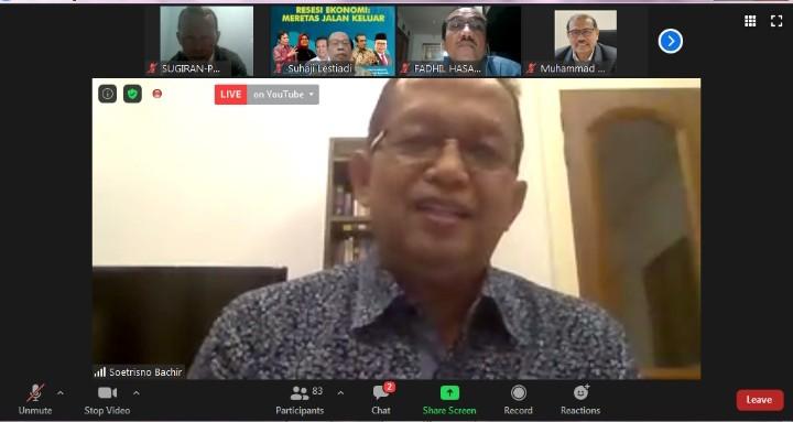 Muhammadiyah bisa jadi lokomotif atasi dampak resesi. Hal itu diungkapkan oleh Ketua Tim Ahli MEK PP Muhammadiyah Soetrisno Bachir.