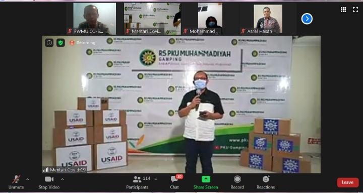 Muhammadiyah distribusikan bantuan USAID tahap pertama. Hal itu disampaikan oleh Ketua MPKU PP Muhammadiyah Drs M Agus Samsudin MM
