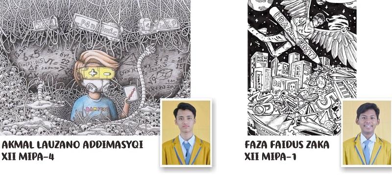 Siswa Smamsatu menjuarai Doodle Art Mathematics Festifal 2020 secara online yang diselenggarakan Himpunan Mahasiswa Pendidikan Matematika UM Surabaya, Ahad (4/10/20).