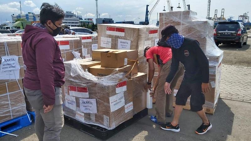 Muhammadiyah kembali menerima bantuan alat kesehatan dari Temasek Foundation International Singapura, Sabtu (21/11/20).
