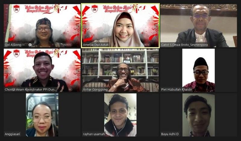 PPI Sedunia mengampanyekan dakwah digital. Hal ini disampaikan Choirul Anam koordinator kegiatan pada hari perayaan Sumpah Pemuda ke-92, Rabu (28/10/20).