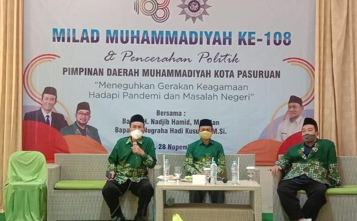 Muhammadiyah jalankan gerakan kultural, termasuk dalam beramar makruf nahi munkar. Hal itu diungkapkan oleh Wakil Ketua PWM Jatim Nadjib Hamid.