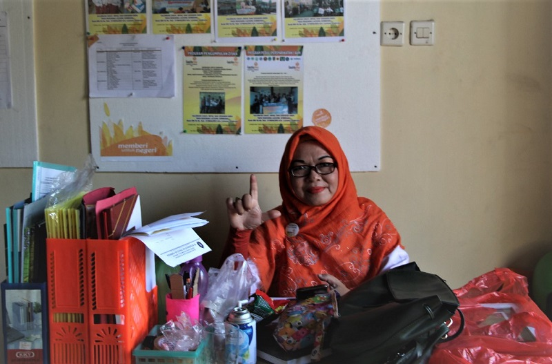 Ni Luh Putu, muallaf dari Jembrana Bali yang memilih berkiprah di Lazismu sebagai jalan ber-fastabiqul khairot disampaikan melalui voice note pada PWMU.CO, Ahad (15/11/20).