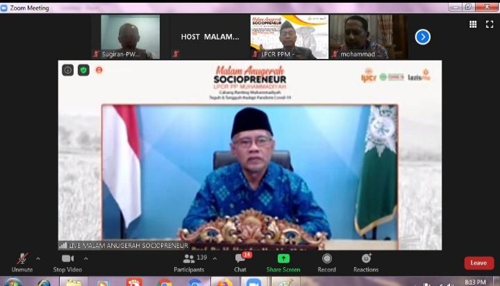 Haedar Nashir mengatakan, semangat berniaga harus menjadi DNA anggota Muhammadiyah (Nely Izzatul/PWMU.CO)