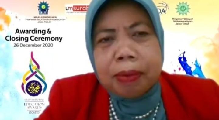 ME Awards merupakan bentuk pendidikan kepeloporan. Hal itu diungkapkan oleh Ketua Majelis Dikdasmen PWM Jatim Arbaiyah Yusuf MA.