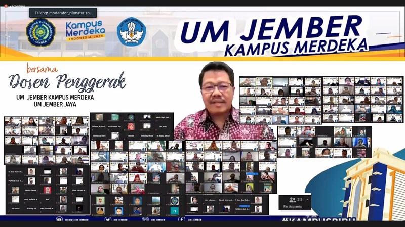 UM Jember melakukan uji kompetensi dosen untuk meningkatkan kualifikasi disampaikan ketua panitia Dr Nikmatur Rohmah SKep Ns MKes, Rabu (23/12/20).