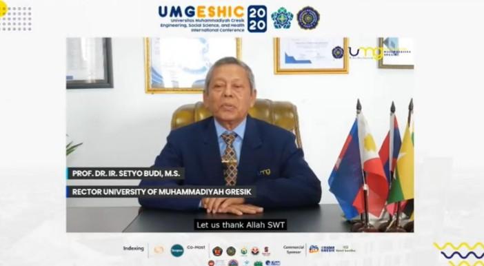 UMG kumpulkan peneliti di Konferensi Internasional bertajuk Universitas Muhammadiyah Gresik Engineering, Social Science and Health International Conference (UMGESHIC) 2020.