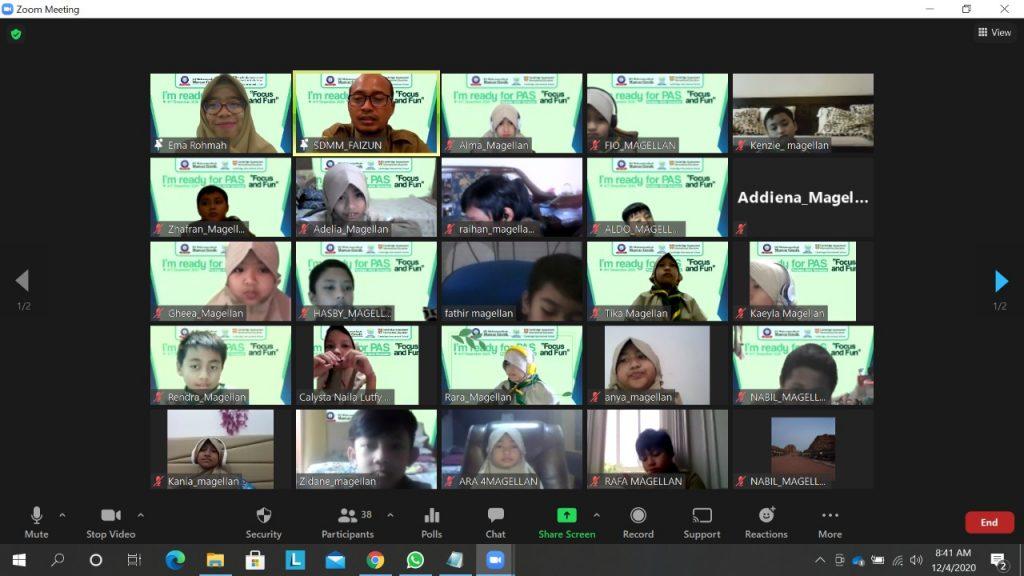 SDMM pantau PAS Online taun pelajaran 2020/2021 lewat aplikasi Zoom Cloud Meetings di tengah keputusan pemerintah memindahkan tempat belajar dari sekolah ke rumah karena Covid-19.