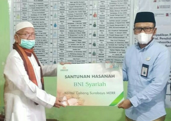 BNI Syariah kunjungi Panti Asuhan Nyai Walidah, Surabaya, Jumat (11/12/20). Kegiatan sosial tersebut menyasar 60 anak asuh.