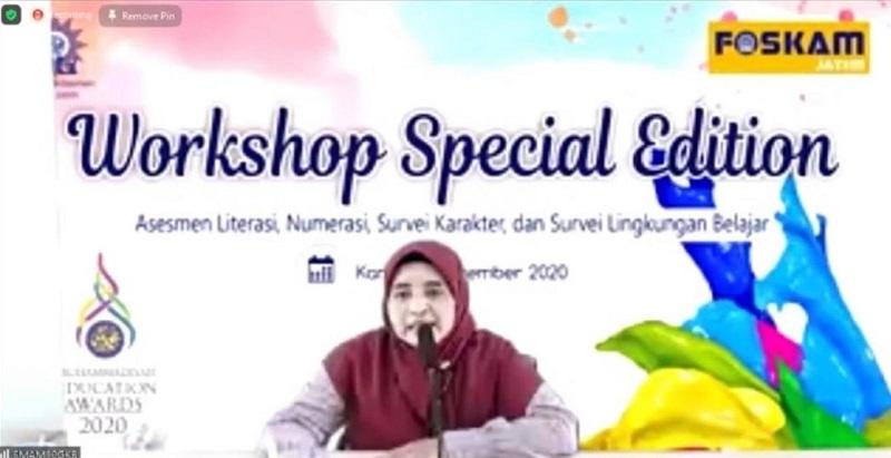 Workshop bikin soal HOTS dengan model AKM dilakukan peserta di Muhammadiyah Education Award (MEA) 2020, Kamis (17/12/20).