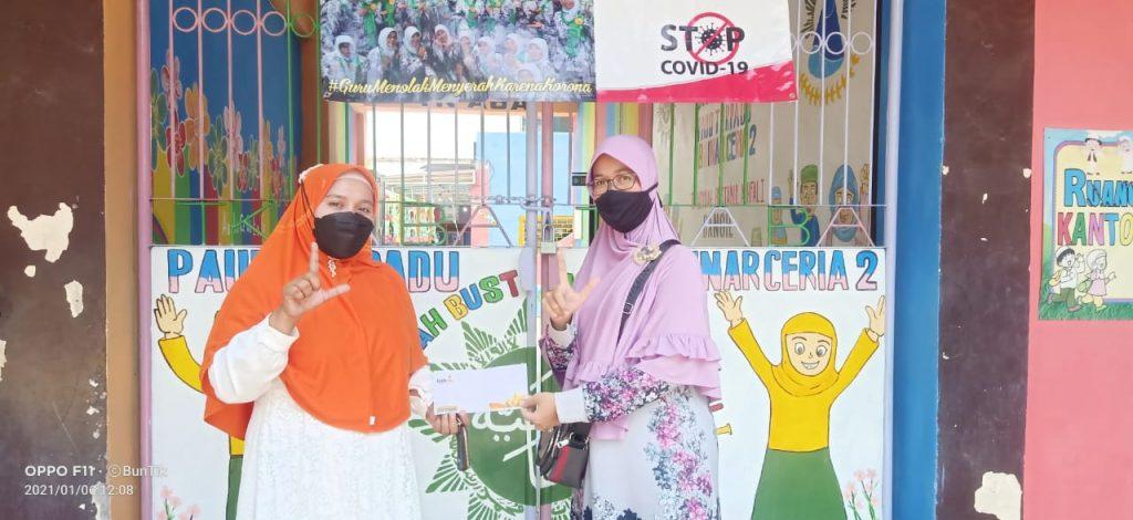 Lazismu Pasuruan donasi ke Lembaga Kesejahteraan Sosial Anak (LKSA) Aisyiyah di Dusun Penampon, Beji, Pasuruan (Lazismu Kab. Pasuruan/PWMU.CO)
