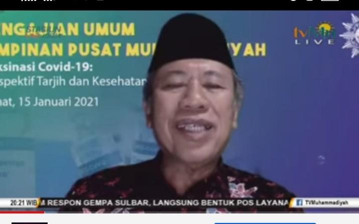 Prof Syafiq Mughni mengatakan Muhammadiyah tidak tinggal diam dalam mengatasi masalah kebangsaan (Nely Izzatul/PWMU.CO)
