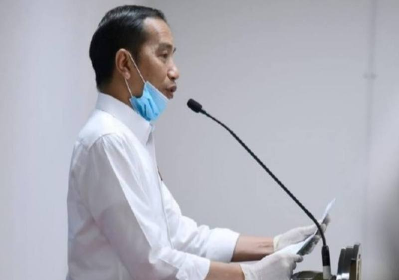 Dua pidato Jokowi