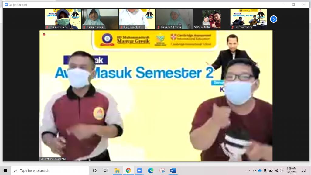 Perjalanan 1009 kilometer mengawali pembelajaran semester 2 di SD Muhammadiyah Manyar (SDMM) Gresik, Senin (4/1/2021).