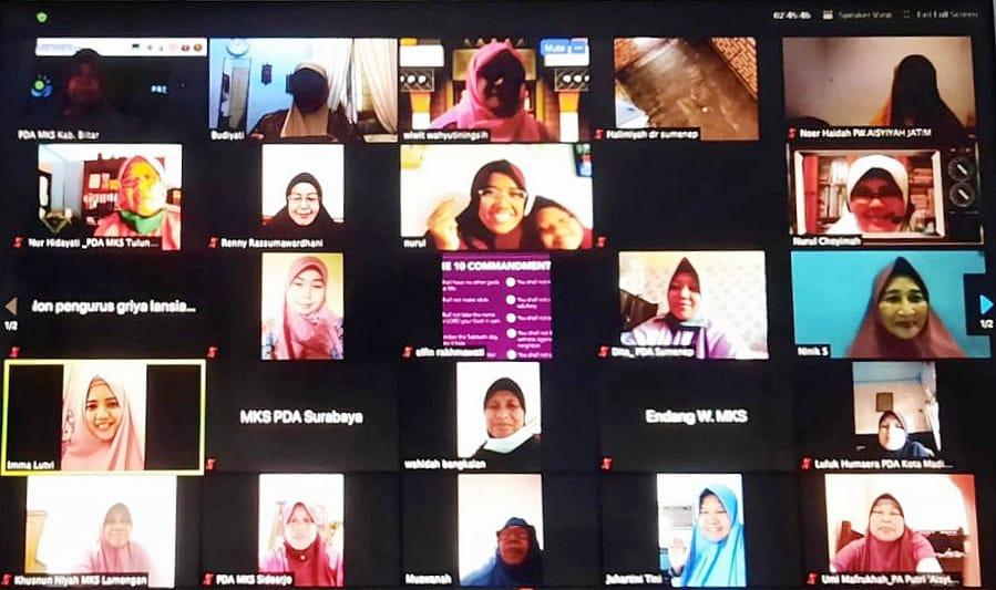 Aisyiyah Jatim melalui Majelis Kesejahteraan Sosial mengadakan Rakor dan Bimtek Amal Usaha secara daring (Nurul Fajriyah/PWMU.CO)