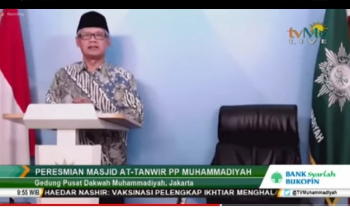 Haedar Nashir saat Peresmian Masjid At-Tanwir (Nely Izzatul/PWMU.CO)