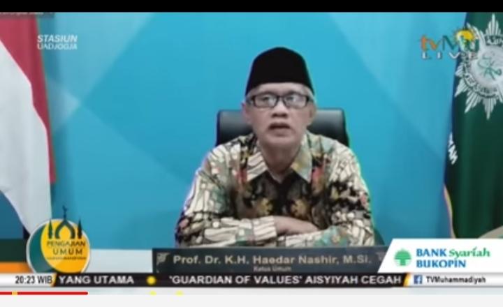 Haedar Nashir mengingatkan kepada warga Muhammadiyah untuk ikuti dengan seksama tuntinan Majelis Tarjih dalam menyambut Ramadhan (Nely Izzatul/PWMU.CO)