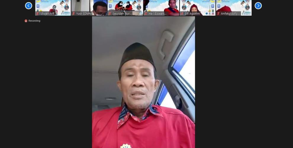 Gegap gempita Milad PWMU.CO ke-5 harus dimonumenkan, demikian kata Nadjib Hamid MSi dalam Resepsi Virtual Milad PWMU.CO, Ahad (21/3/21).