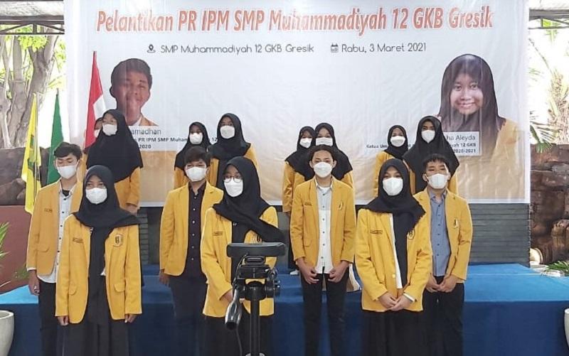 Pelantikan Pimpinan Ranting (PR) Ikatan Pelajar Muhammadiyah (IPM) Spemdalas, Pimpinan Cabang IPM GKB Gresik berharap terus meningkatkan kreativitas di tengah pandemi.